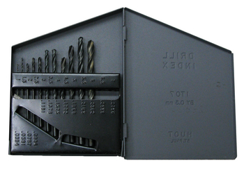 1mm - 6mm x .5mm Metric Drill Sets in Metal Index Case