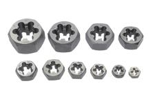 Hex Rethreading Die Set 10 PC