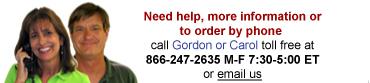 call Gordon or Carol